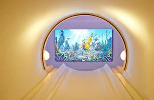 Audio/Video System helps patients relax during MRI scans.