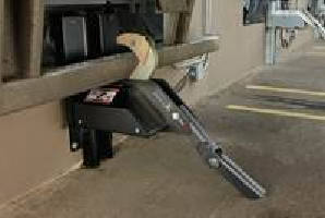 Vehicle Restraint utilizes shadow hook design.