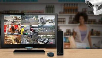Network Video Recorder supports up to 9 security cameras.
