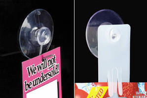 Large Diameter Suction Cups increase available selling space.