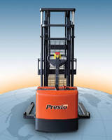 Powered Walkie Stacker features 3,000 lb capacity.