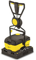 Automatic Floor Scrubber cleans 4,300 square feet per hour.