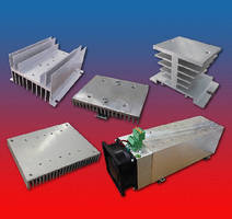 Heat Sinks work with panel mount solid state relays.