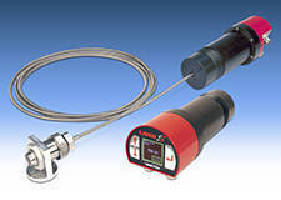 IR Pyrometers use pulsed LED to confirm spot size and focus.