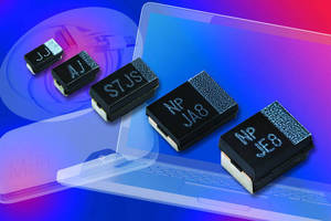SMT Polymer Tantalum Chip Capacitors offer low ESR in low profile.