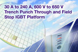 Trench PT/FS IGBT Platform reduces conduction, switching losses.