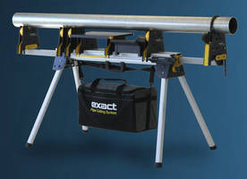 Portable Pipe Stand can be carried to where cutting is needed.