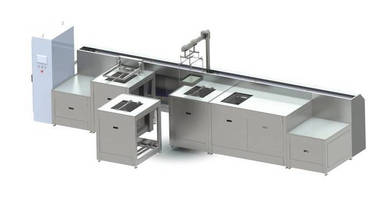 Ultrasonic Cleaning System employs modular design concept.