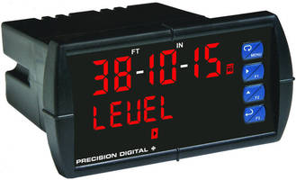 Panel Meters display measurements in feet and inches.