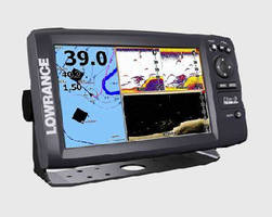 Fishfinder/Chartplotter features 9 in. widescreen display.