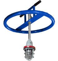 Explosion Proof LED Light mounts to manhole opening.