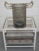 Cooling Stand/Sieve holds fluidized bath items and captures ash.