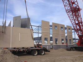 Exterior Precast Concrete Walls enhance P425 LCS building project.