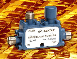 Directional Coupler offers 6 dB coupling from 7.0-12.4 GHz.