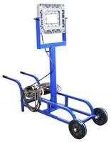 Wheelbarrow-Mounted LED Tank Light has explosion proof design.