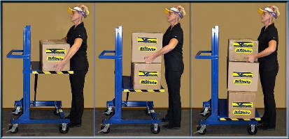 Automatic Height Adjusting Carts offer 1,000 lb capacity.