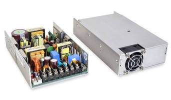 Compact 400 W AC/DC Power Supplies come in 4 case styles.