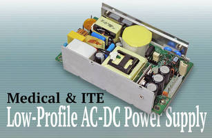 Compact AC/DC Power Supplies serve medical and ITE applications.