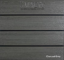 Composite Decking comes in multi-chromatic charcoal grey.