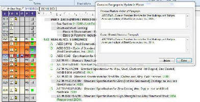 Construction Specification Software offers online updating.