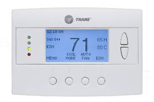 Z-Wave Thermostat enables remote control via mobile device.