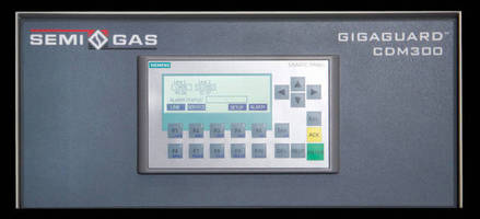 Process Instrumentation Monitor works with UHP gas source systems.