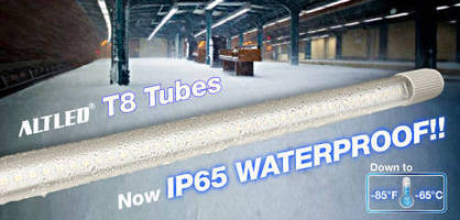 Waterproof T8 LED Tube Light operates down to -85°F.