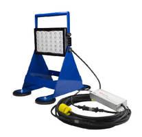 LED Pedestal Mount Work Light includes inline transformer.