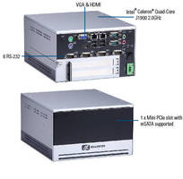 Fanless Embedded Box PC supports expansion via 2 PCI interfaces.
