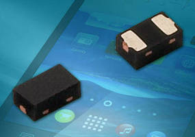 BiAs Single-Line ESD Protection Diode helps conserve board space.