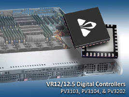 Digital Controllers feature VR12/12.5 compliant interface.