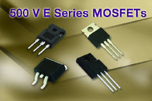 High-Voltage MOSFETs suit SMPS applications.