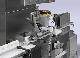 Labeler/Printer enhances pharmaceutical packaging serialization.