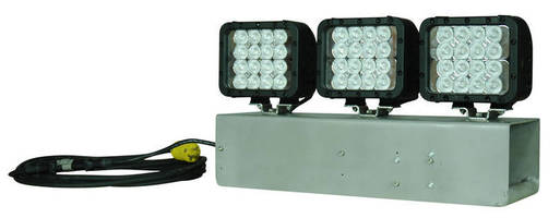 Magnetic 144 W LED Work Light produces 8,640 lm flood pattern.