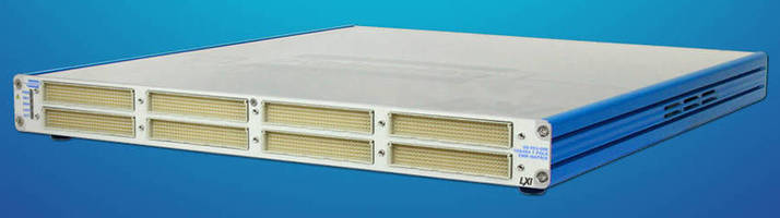 High-Density LXI Switching Matrix has dual bus arrangement.