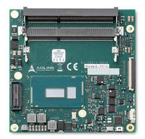 COM Express Compact Size Type 6 Module uses Core i7/5/3 CPUs.