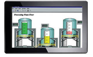 Rugged Touch Panel PC features IP65-rated, widescreen design.