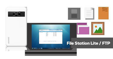 Mobile 7-in-1 NAS offers File Station Lite, FTP server support.
