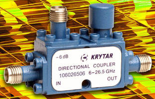 Directional Coupler offers 6 dB coupling over 6.0-26.5 GHz range.