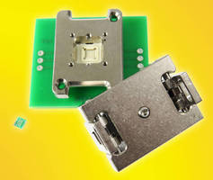 Clamshell Spring Pin QFN Socket accommodates 10TDFN package.