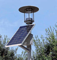 Outdoor LED Lighting System is 100% solar powered.