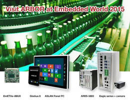 ARBOR to Showcase Total Solutions at Embedded World 2015 in Nuremberg, Germany
