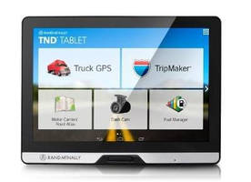 Tablet Computer assists professional drivers.