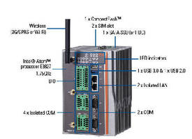 Rugged Embedded PC features fanless, cableless design.