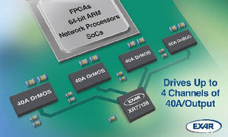 Quad Universal PMIC delivers more than 40 A per output.