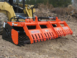 Skid Steer Loader Grapples sort large or small rocks.