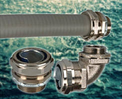 Flexible Conduit and Fittings feature liquid-tight design.