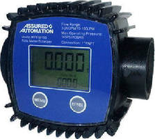 In-Line Turbine Flow Meter measures low-viscosity liquids.