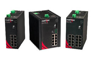 Gigabit and PoE+ Switches feature DIN-rail mount design.