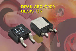 Thick Film Power Resistor offers 3 W power dissipation.